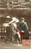 - Themes - Ref-A461- Guerre 1914-18-  Pour Dieu - Pour La Patrie - Sante Croix Rouge - Religions - - Patriotiques