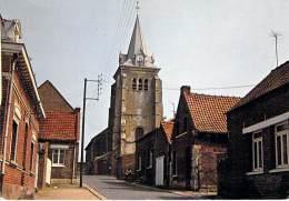 59 - SAULZOIR : Rue Lavoisier - L'Eglise - CPSM Dentelée Noir Blanc Grand Format 1977 - Nord - Autres Communes