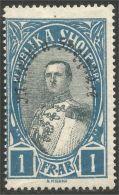 120 Albanie 1928 Roi King Zog Surcharge MH * Neuf CH (ALB-234) - Albania