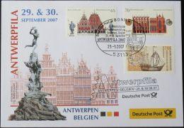DEUTSCHLAND 2007 Antwerpfila Antwerpen 29.09.2007 Messebrief Deutsche Post - BRD
