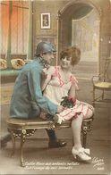 - Themes - Ref-A456- Guerre 1914-18- Poilu -  Couple - Les Secrets - Carte Bon Etat - - Patriotiques