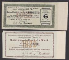 Treuen I. Vogtland Treibriemenweberei Seilfabrik 2 Gewinnanteilscheine Zur Aktie - Textil