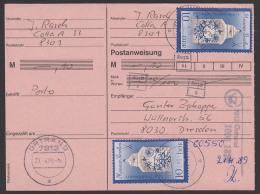 Postanweisung Kpl. Mit 10 Pf(2) Meissner Porzellan Aus Ortrand - PA Nicht Eingelöst - [6] République Démocratique