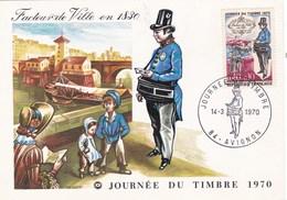 FACTEUR DE VILLE EN 1830/AVIGNON 14/03/1970 (dil351) - Cartoline Maximum