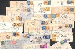Enveloppes Marcophilie Lot Pour étude 21 Plis Avec 2 Timbres... A Voir Absolument.  Tout Est Scanné. - Marcophilie (Lettres)