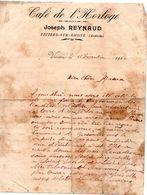 07 VIVIERS SUR RHONE FACTURE CORRESPONDANCE CAFE BOISSON MILITARIA - Historical Documents