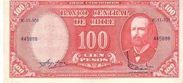 Chile P.127 100 Pesos 1960  Unc - Chile