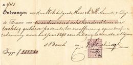 Nederland Document / 1899 Ontvangsbewijs  5ct Bruin - Periode 1852-1890 (Willem III)