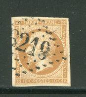 Y&T N°13B- Gros Chiffre 3219 - 1853-1860 Napoléon III