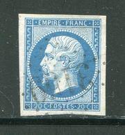 Y&T N°14B- Gros Chiffre 3159 - 1853-1860 Napoleone III