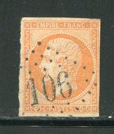 Y&T N°16- Gros Chiffre 106 - 1853-1860 Napoleon III