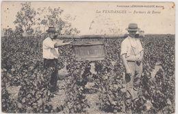 Cpa,1907,métin Du Vin,vigne,les Vendanges,porteurs De Benne,rare, éditeur Lémonon Ducoté Macon, - Bauern
