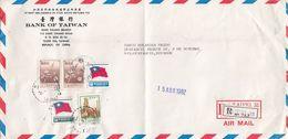 FRONT COVER TAIWAN. REGISTERED TAIPEI . BANK OF TAIWAN TO ECUADOR .   / 2 - 1945-... République De Chine