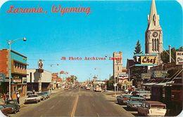 279127-Wyoming, Laramie, Third Street, Looking North, Business District, 60s Cars, Sanborn By Dexter Press No 20282-C - Laramie