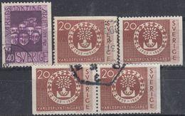 SUECIA 1960 Nº 448/49 + 448a + 448b USADO - Sweden