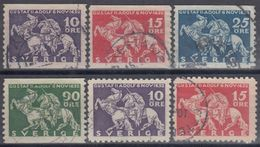 SUECIA 1932 Nº 224/27 + 224a + 225a USADO - Sweden