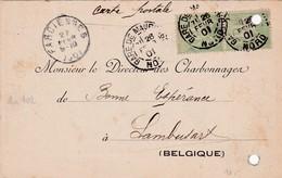France :  Carte Avec Nr 102 / De Maubeuge à Lambusart( Oblit. : Farciennes  ( Charbonnages ) - France