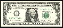 USA 2006, Federal Reserve Note, 1 $, One Dollar, B = New York, UNC -, Erhaltung I - - Federal Reserve (1928-...)