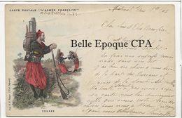 Militaria / Carte Postale L'Armée Française - Zouave ++++ Illustration / E. H., Paris ++++ 1903 - Autres