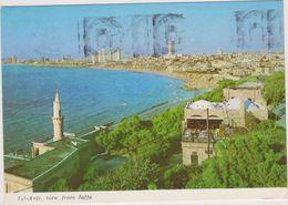 ISRAEL,TEL AVIV,judaica,vue Aerienne,mer,habitation ,tampon - Israele