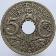 France 5 Centimes 1920 Small VF - France