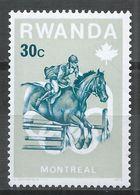 Rwanda 1976. Scott #739 (M) Olympic Games Montréal, Steeplechase, Horses * - 1970-79: Neufs