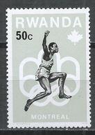 Rwanda 1976. Scott #740 (M) Olympic Games Montréal, Long Jump * - 1970-79: Neufs