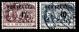 Pays-Bas 1907  Mi.nr: Mi.Nr: Porto 31 Und 36 Admiral De Ruyter  Oblitèré / Used / Gebruikt - Taxes