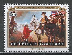 Rwanda 1976. Scott #722 (MNH) Painting, Surrender At Yorktown * - 1970-79: Neufs