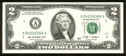 USA 2009, Federal Reserve Note, 2 $, Two Dollars, A = Boston, Massachusetts, A04226366A, UNC -, Erhaltung I - - Federal Reserve (1928-...)