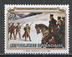 Rwanda 1976. Scott #723 (MNH) Painting, Instruction At Valley Forge * - 1970-79: Neufs
