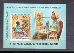 TOGO BLOC 160** SUR L ANNEE INTERNATIONALE DES PERSONNES HANDICAPES - Togo (1960-...)