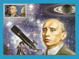 Moldovei 2009  Mi.Nr. 650 , EUROPA - CEPT  Astronomie Nicolae Donici - Maximum Karte - Erstausgabe Posta Moldovel - Europa-CEPT