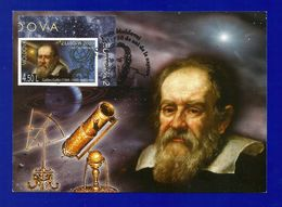 Moldovei 2009  Mi.Nr. 651 B , EUROPA - CEPT  Astronomie Galileo Galilei - Maximum Karte - Erstausgabe Posta Moldovel - Europa-CEPT