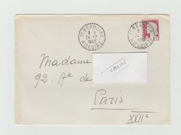 LSC 1963 - Cachet Perlé - ST BEAUZIRE  (Haute Loire) - 1961-....