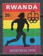 Rwanda 1976. Scott #762 (MNH) Olympic Games Montreal, Soccer * - Rwanda