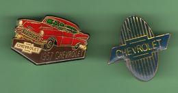 CHEVROLET *** Lot De 2 Pin's Differents *** A018 - Corvette
