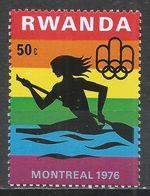 Rwanda 1976. Scott #764 (MNH) Olympic Games Montreal, Woman Canoeing * - 1970-79: Neufs