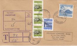 Trinidad & Tobago Pictorial Used On Underpaid Cover To Jersey With Postage Due 3 X 20p + 5p - Trinidad En Tobago (1962-...)