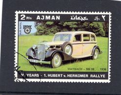 Ajman  -  Maybach SW38  -  1936  -  Hubert Von Herkomer Rallye  -  1v Obl. - Voitures