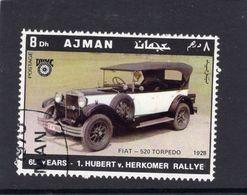 Ajman  -  Fiat 520 Torpedo  -  1928  -  Hubert Von Herkomer Rallye  -  1v Obl. - Voitures