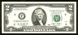 USA 2009, Federal Reserve Note, 2 $, Two Dollars, F = Atlanta, Georgia, F08031522A, UNC -, Erhaltung I - - Billetes De La Reserva Federal (1928-...)