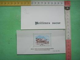 79) 2 Doc Musee Postal : Carte Meilleurs Voeux Et Malle Poste : 19 12 73 - Documenten Van De Post