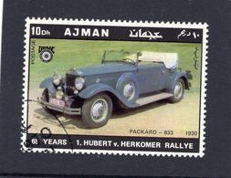 Ajman  -   Packard 833  -  1930  -  Hubert Von Herkomer Rallye  -  1v Obl. - Voitures