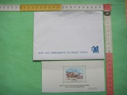 81) 2 Doc Musee Postal : Enveloppe : Avec Les Compliments ...  Et Malle Poste : 19 12 73 - Documenten Van De Post