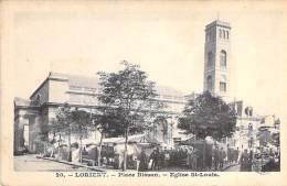 29 - LORIENT : Place Bisson - Eglise St Louis - CPA - Finistère - Lorient