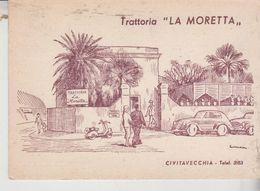 Civitavecchia  Trattoria La Moretta Illustrata 1957 - Civitavecchia