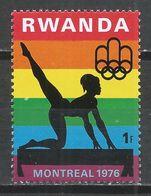 Rwanda 1976. Scott #765 (MNH) Olympic Games Montreal, Gymnast  * - 1970-79: Neufs