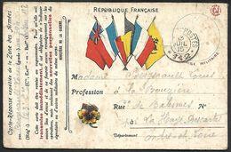 CM 125  Correspondance Militaire Du 13-07-15 Cachet Trésor Et Postes Double Cercle N°(SP)112 65ème Division D'Infanterie - Marcophilie (Lettres)