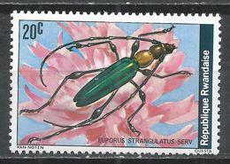 Rwanda 1978. Scott #865 (MNH) Insect, Euporus Strangulatus * - 1970-79: Neufs